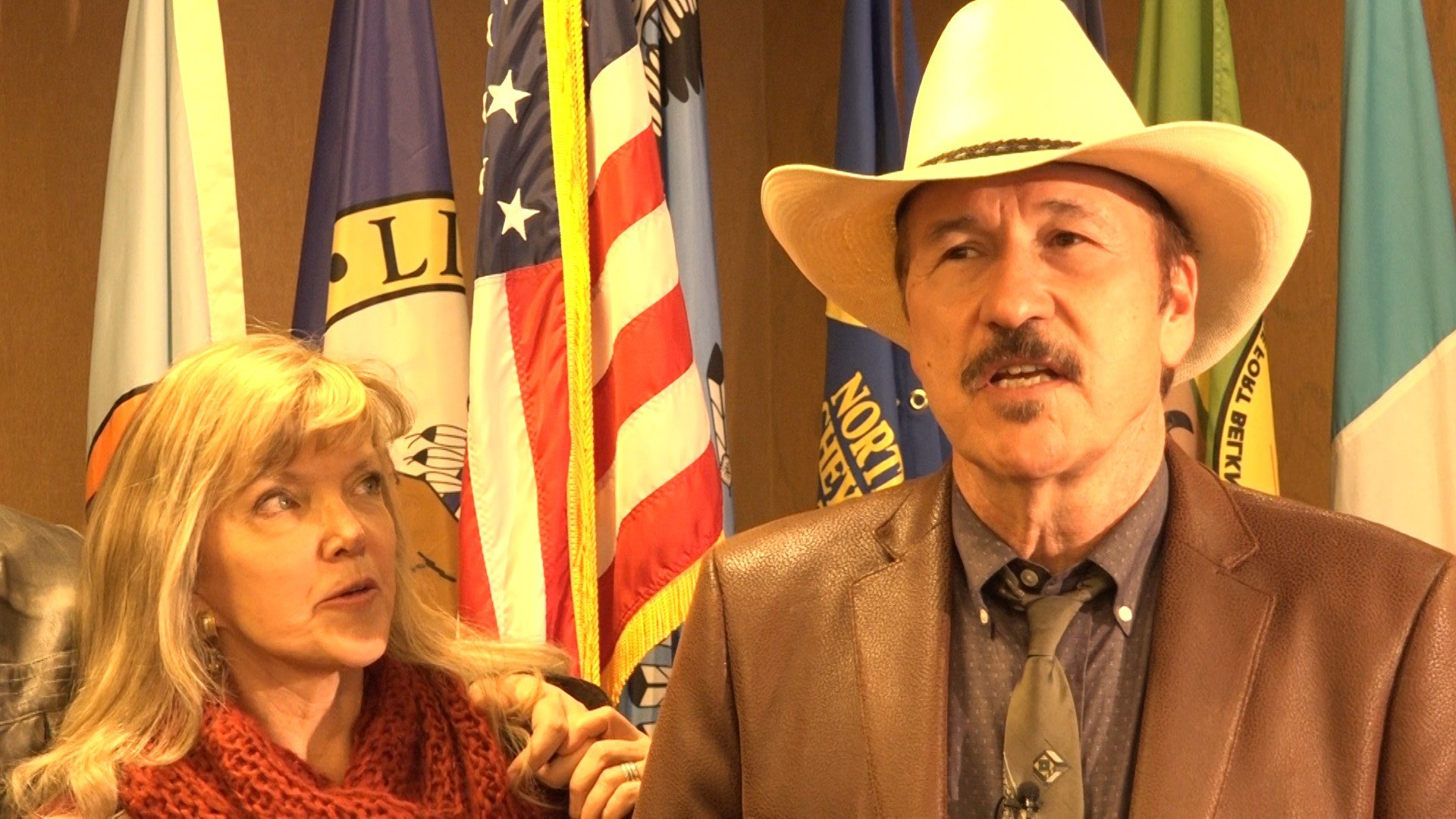 Democratic U.S. House candidate Rob Quist and his wife, Bonni