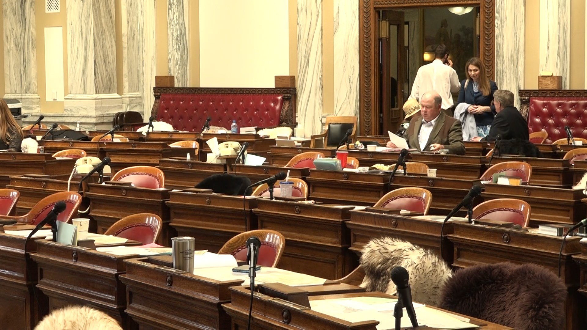 A near-empty House chamber of failed infrastructure vote