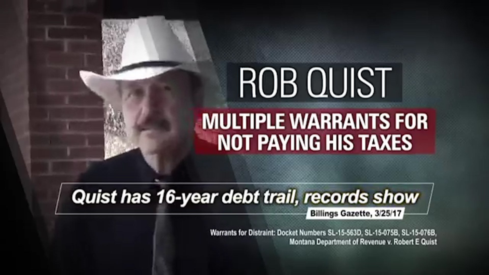 Congressional Leadership Fund ad attacking Democrat Rob Quist