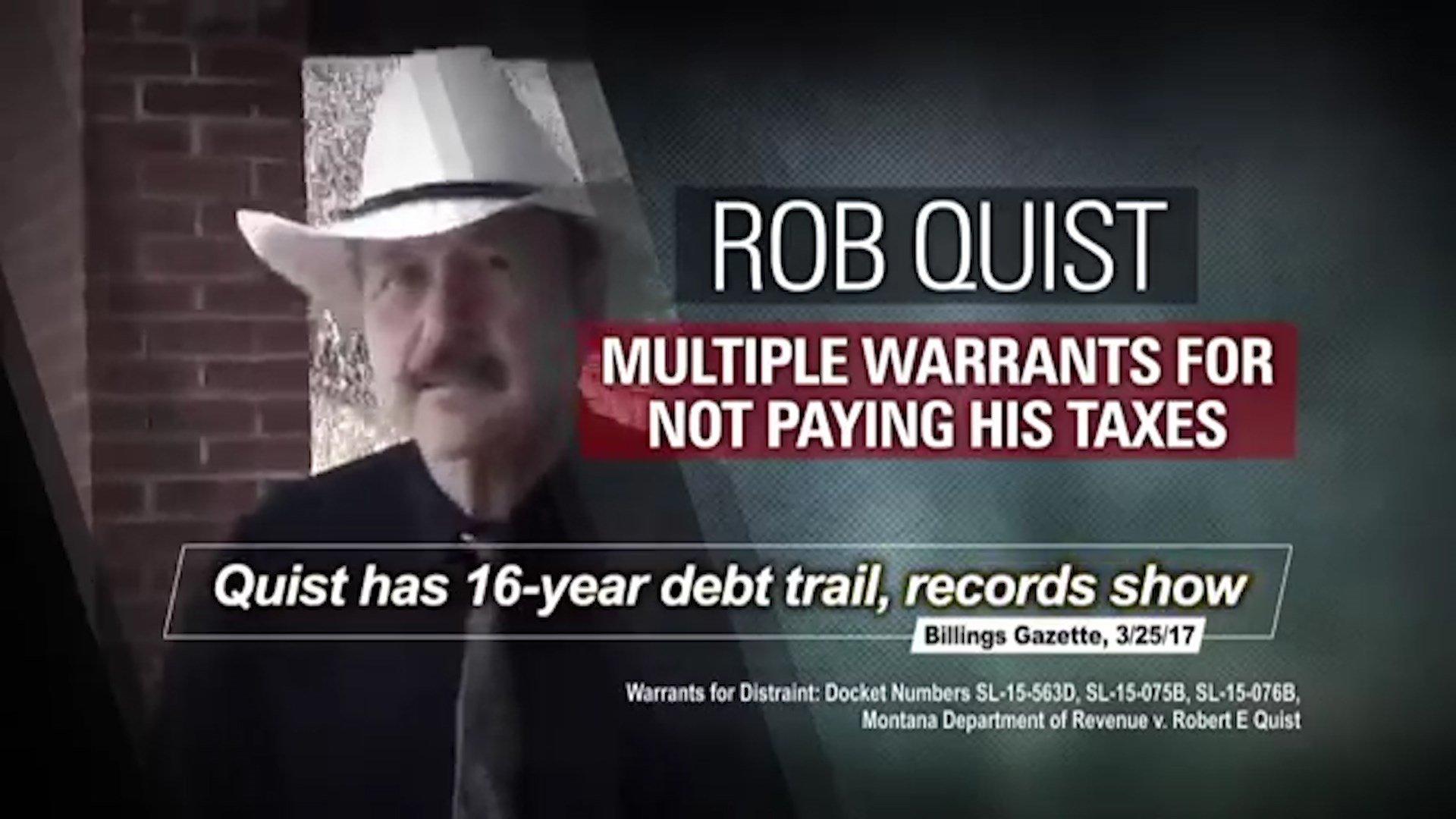 Congressional Leadership Fund ad attacking Democrat Rob Quist