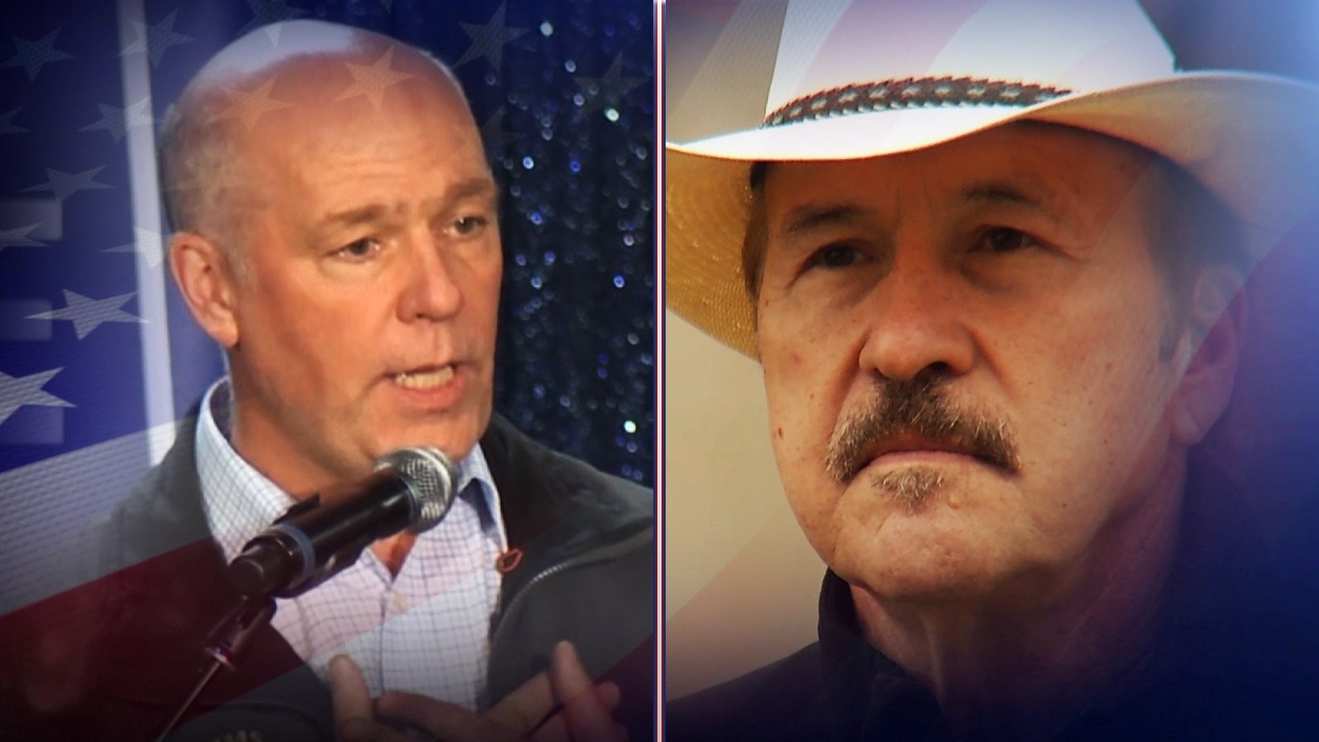 U.S. House candidates Greg Gianforte (left) and Rob Quist