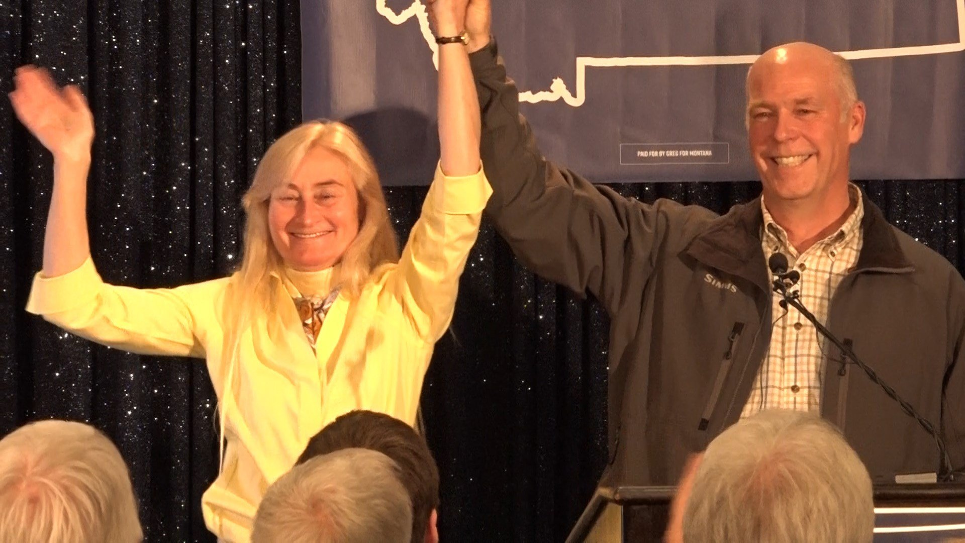 U.S. Rep.-elect Greg Gianforte and his wife Susan Thursday night