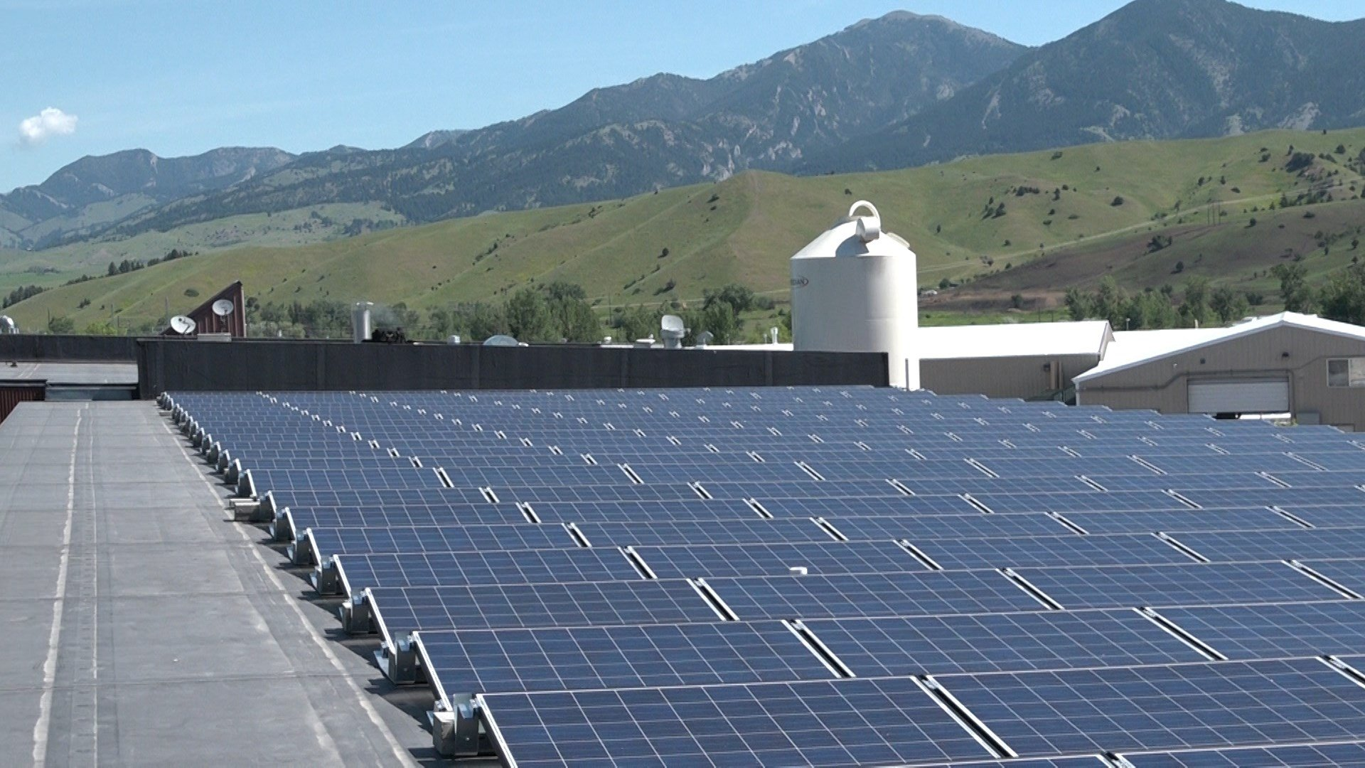 Solar-power panels in Bozeman