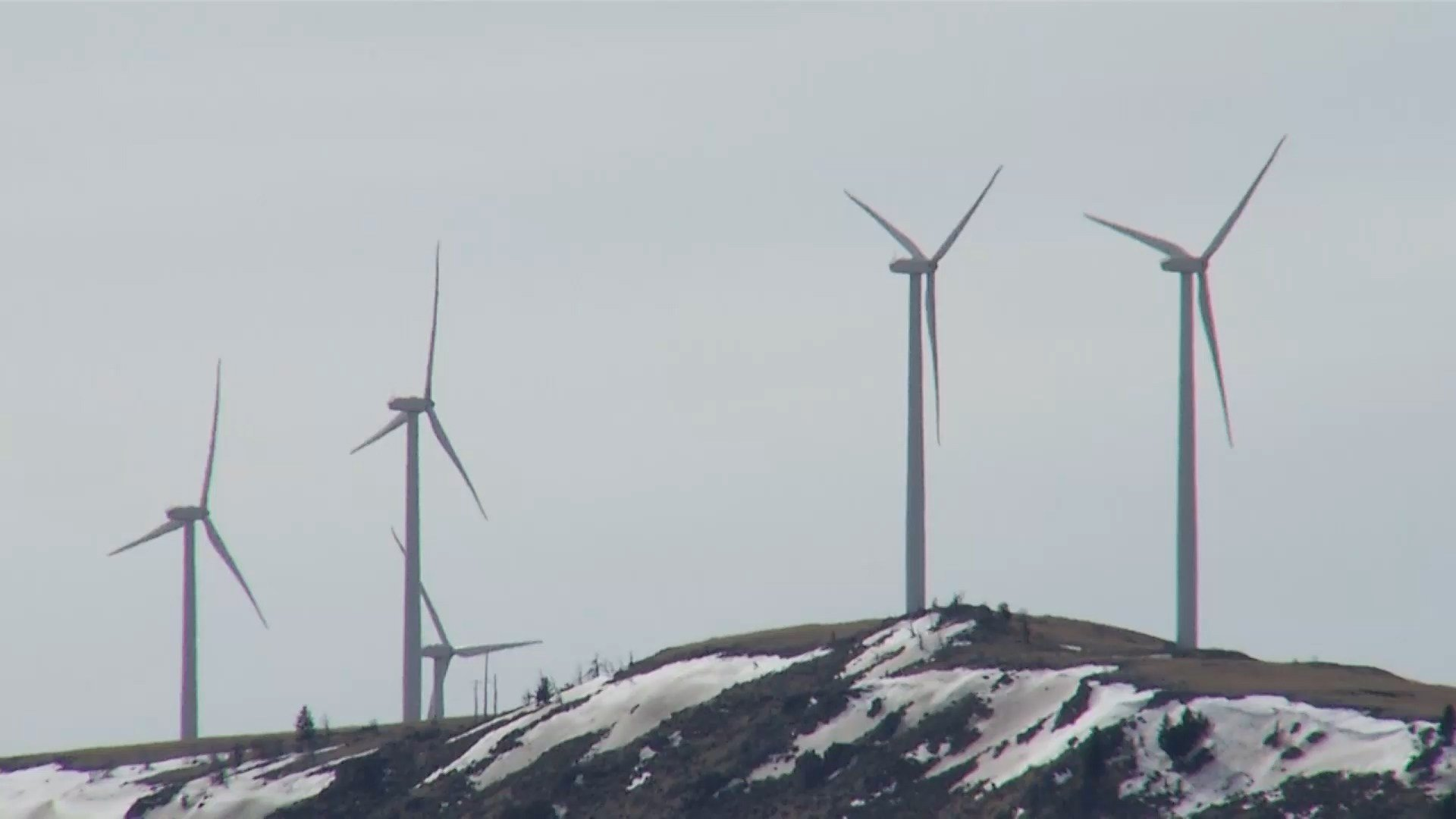 Wind-power turbines in central Montana