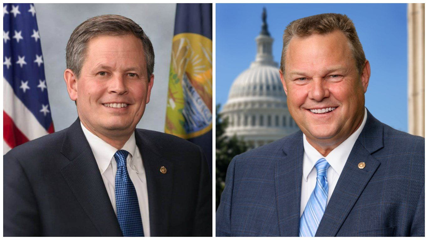 U.S. Sens. Steve Daines (left) and Jon Tester