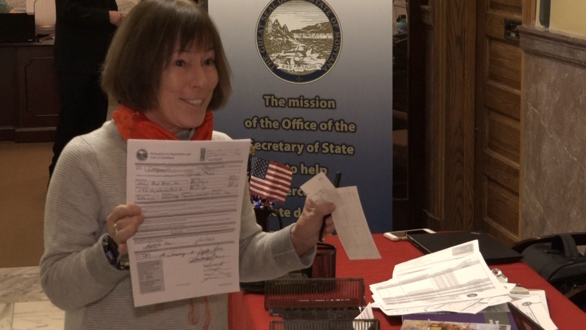 Democratic U.S. House candidate Lynda Moss is first to file