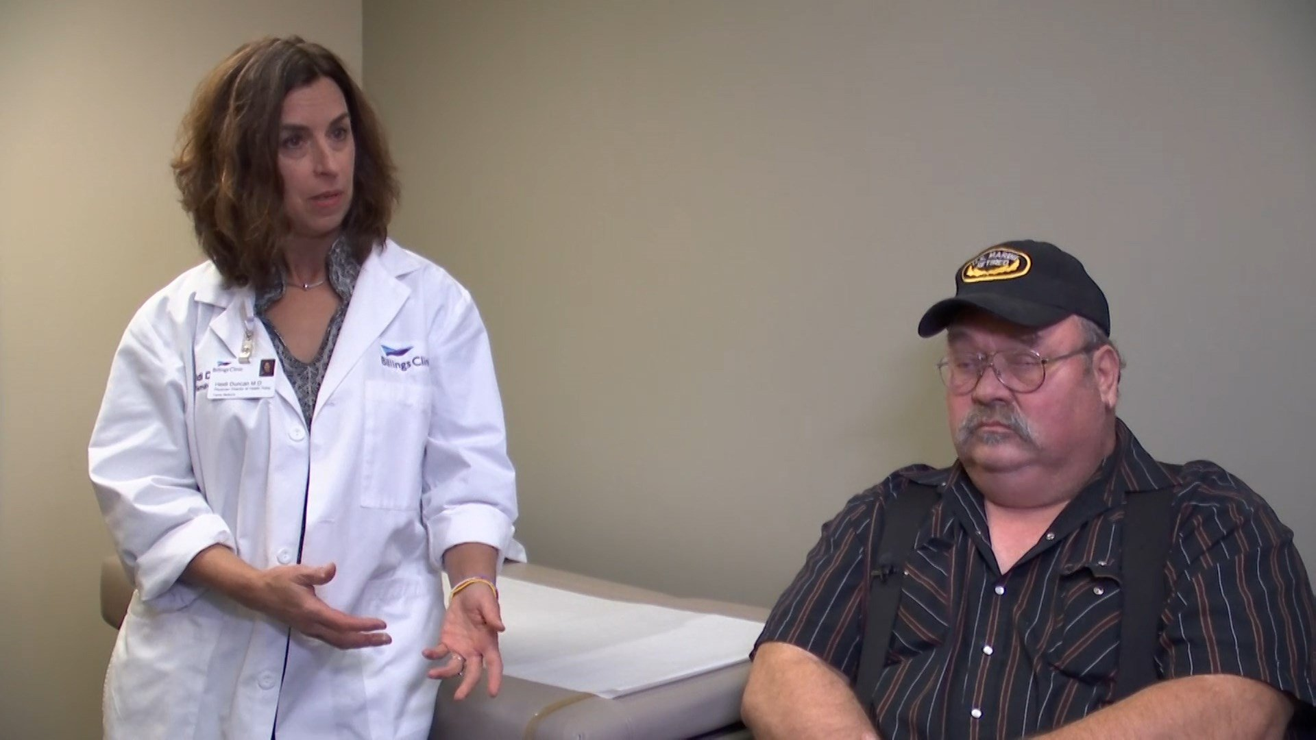 Billings Clinic physician Heidi Duncan with Medicaid-covered patient, Frank Keele