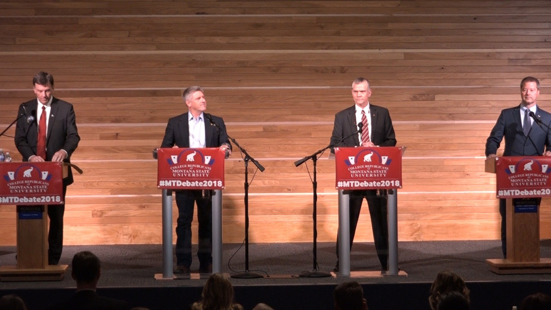 The four GOP Senate hopefuls at MSU debate