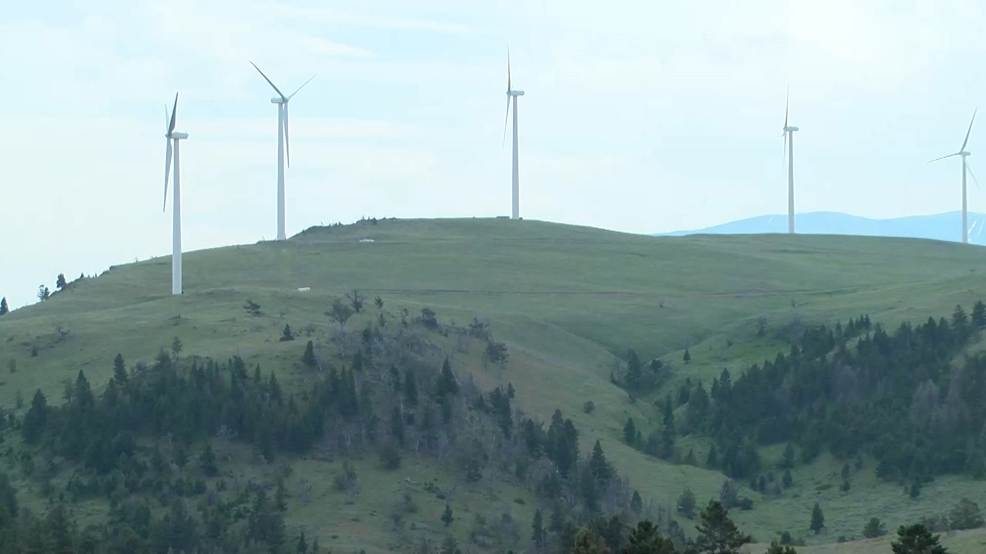 Wind-power turbines in central Montana's Meagher County